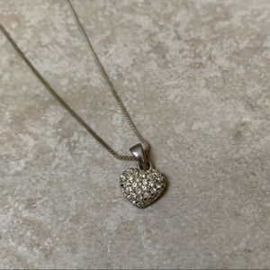Jewelry - ❤️ Silver Crystal Heart Pendant Necklace